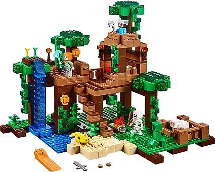 Amazon Com Lego Minecraft The Jungle Tree House 21125 Toys Games