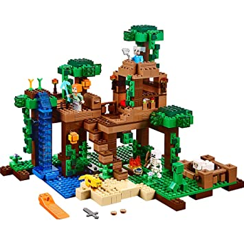 Amazoncom LEGO Minecraft The Jungle Tree House 21125 Toys Games