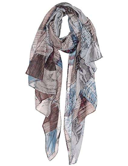 852c6898b0 Lightweight Scarves Fashion Lace Print Shawl Wrap For Women Spring ...