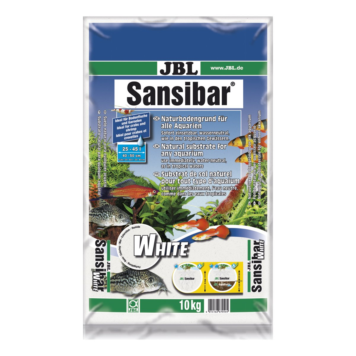 JBL Sansibar Grey 10KG Natural Substrate 6706300