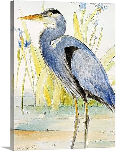 Great Blue Heron Canvas Wall Art Print