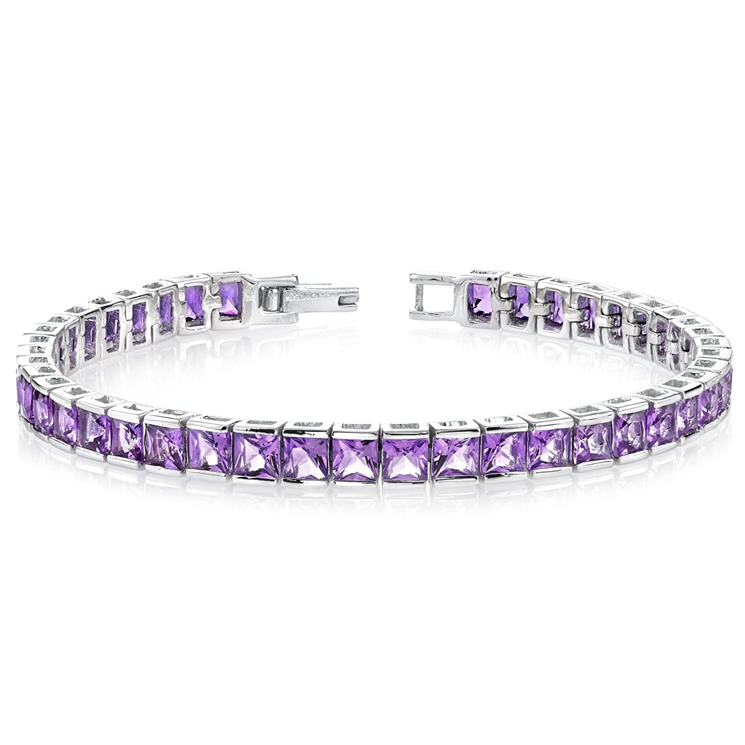 sterling amazon princess amethyst silver tennis ruby carats cut jewelry bracelet com dp diamond