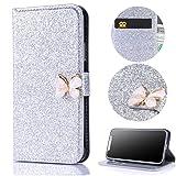 Stysen Galaxy J3 2016 Wallet Case,Shiny Silver