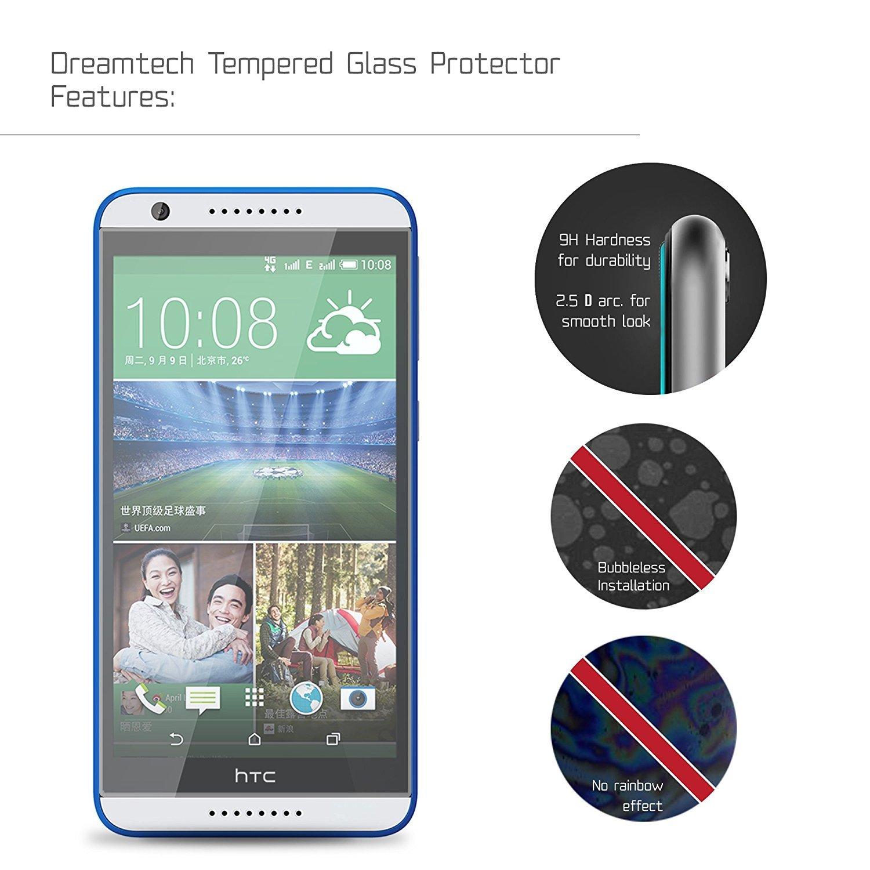 NEVEQ Cristal Templado Protector de Pantalla para HTC Desire 820 Vidrio  Templado, el HTC Desire 820 Dual Sim (5.5 in) Pulgadas Piel Protectora de  la ...