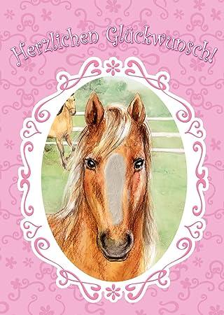 Bentino Xxl Grusskarte Pferd Streicheln A4 Format Zum Geburtstag