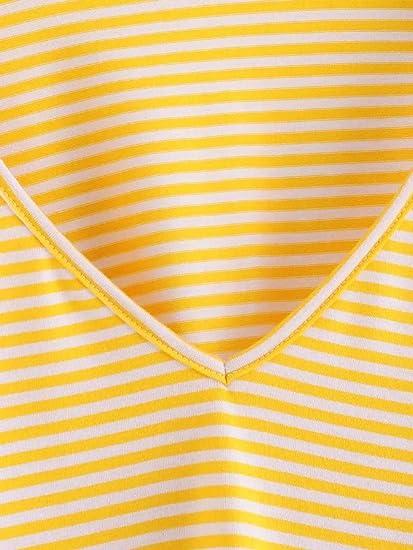 ZODOF Moda Mujer Camisa Casual Manga Larga con Cuello en v Blusa Superior Blusa Tops Camisa Mujer Raya Cuello Redondo Suelto Blusa Rojo y Top Azul ...