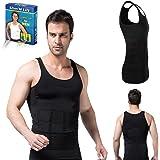 Bonbury Slim N Lift Slimming Tummy Tucker Body Shaper Vest for Men (Large Black)