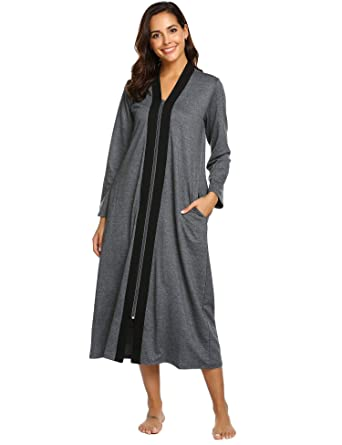 f05d82d797 Ekouaer Womens Cotton Robe