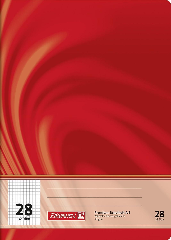 Brunnen 104442802 Schulheft A4 Vivendi (32 Blatt, 5 mm kariert, mit Rand, Lineatur 28) Baier & Schneider GmbH & Co. KG
