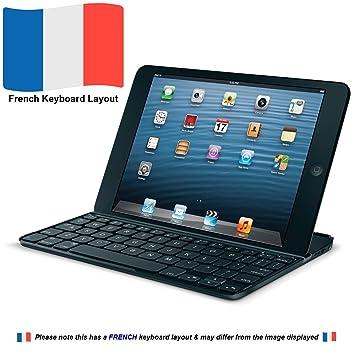 Logitech Ultrathin Keyboard mini Bluetooth AZERTY Francés Negro teclado para móvil: Amazon.es: Electrónica
