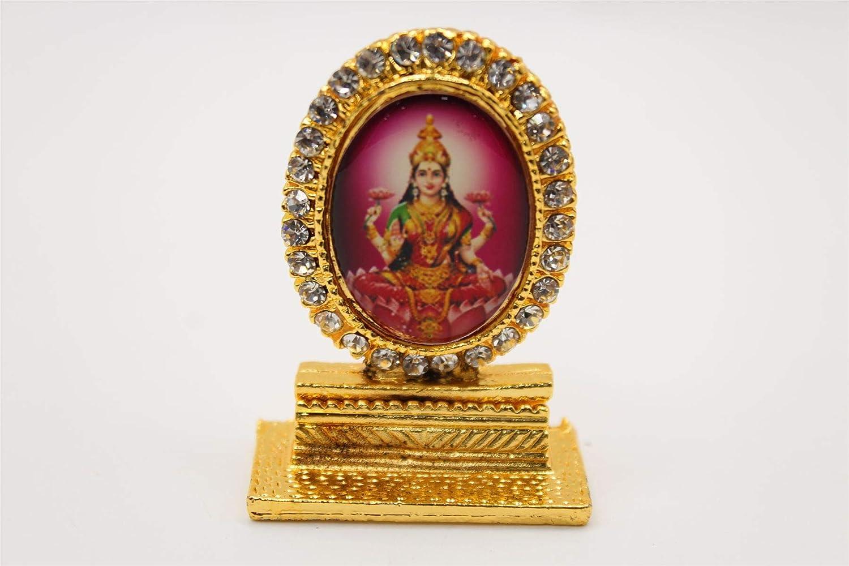 Hindu Goddess Laxmi Laxmiji Metal Show Piece Small Statue For Car Dash Board Gift Item