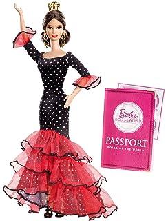 Amazon.es: La Señorita Muñeca Flamenco España Vestido Disfraz Rojo ...
