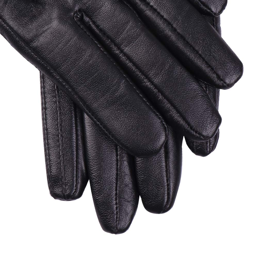 Nappaglo Nappa Leather Gloves Warm Lining Winter Handmade Curve Imported Leather Lambskin Gloves for Women (S, Black) by Nappaglo (Image #4)