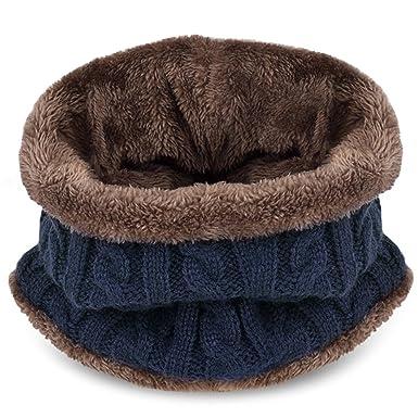Kuyou Cappello Bambino Invernale Unisex Berretto in Maglia con sciarpa (Bleu  Marine)  Amazon.it  Abbigliamento a58bacfd73ce