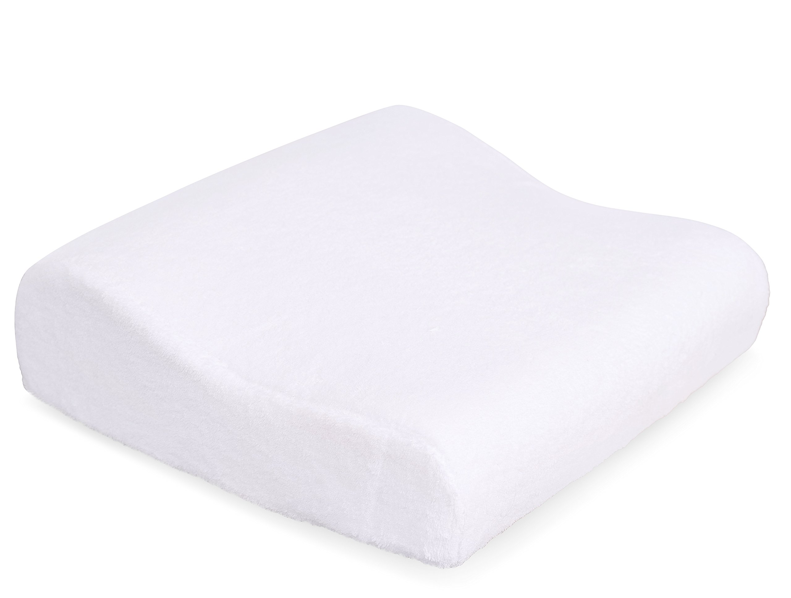 Internet's Best Memory Foam Bath Pillow with Suction Cups | Spa Pillow for Tub | Soft Cover | White