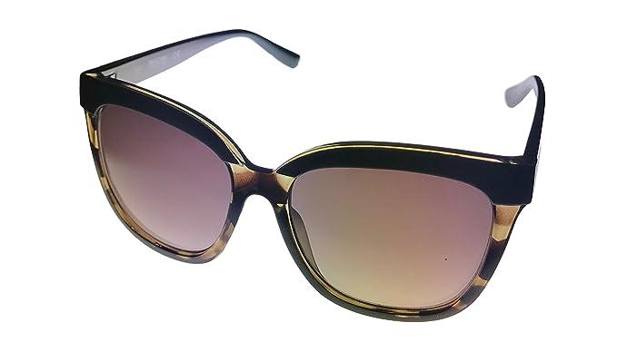 5740991f13 Kenneth Cole Reaction Womens Square Blonde Havana Brown Plastic Sunglass  KC1320 52F