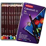 Derwent Coloursoft Colouring Pencils, Set of 12, Professional Quality, 0701026