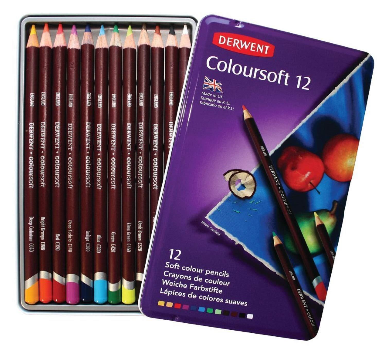 12 Lapices De Colores Derwent, Caja Metalica (xmp)