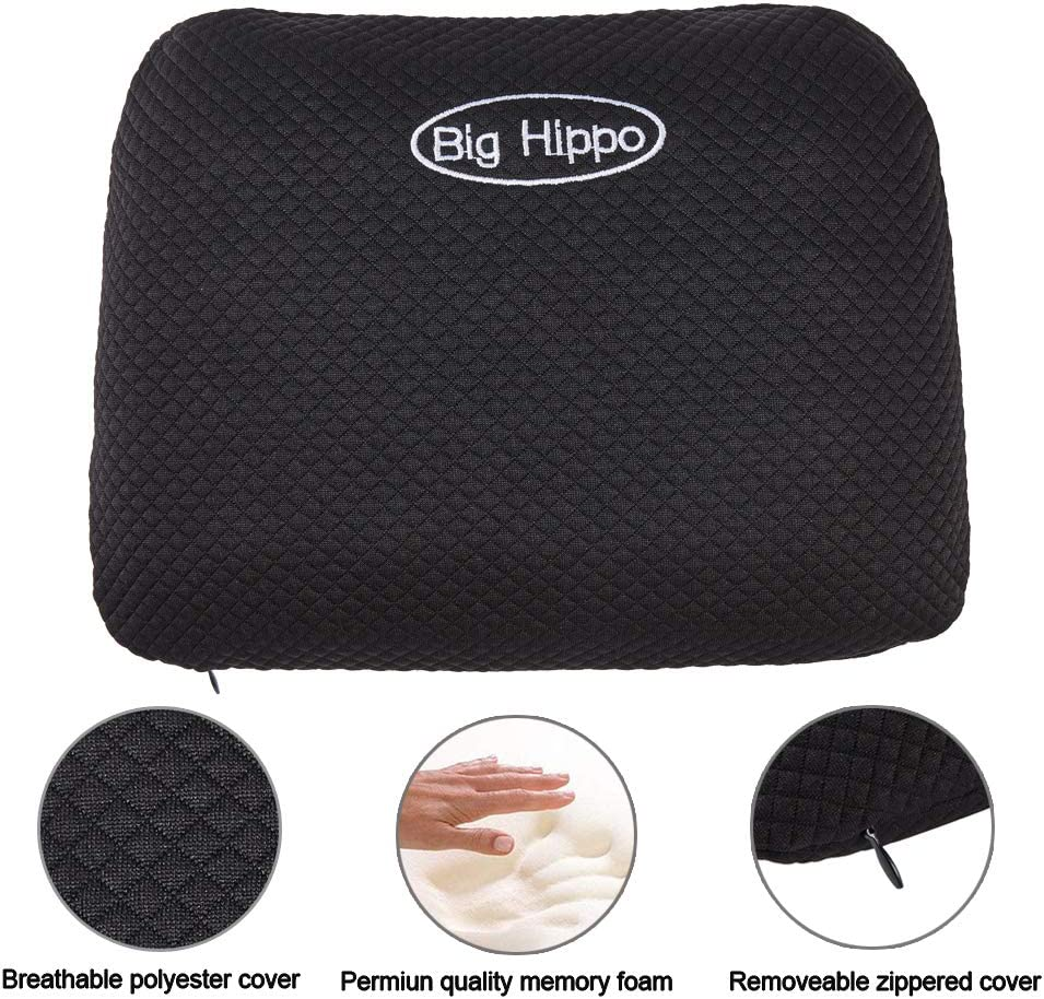 Memory Foam Travel Pillow with Removable Pillow Cover Big Hippo Camping Pillow for Sleeping