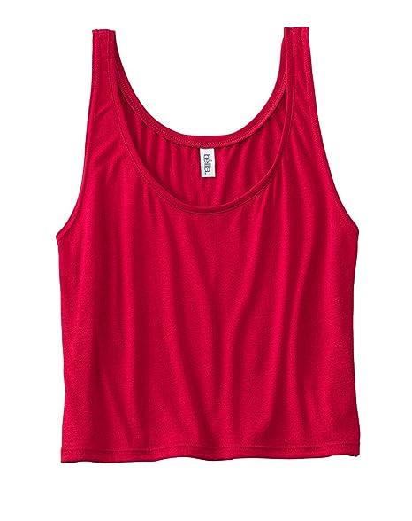 e6c04a345ed3c Bella 8880 Ladies 3.7 oz. Boxy Tank - RED - Medium at Amazon Women s ...