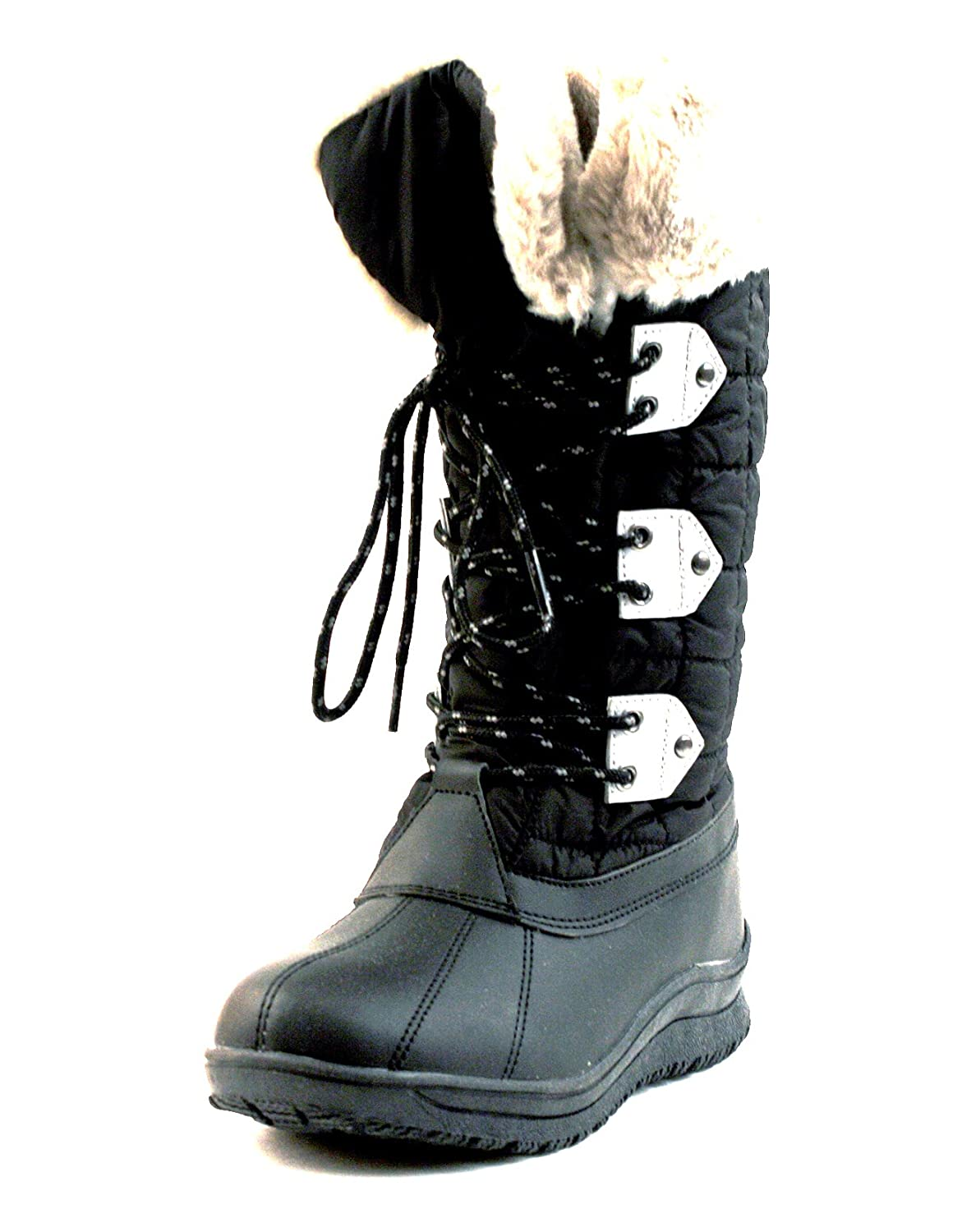 Luckers Women's Black Fashion Snow Boots