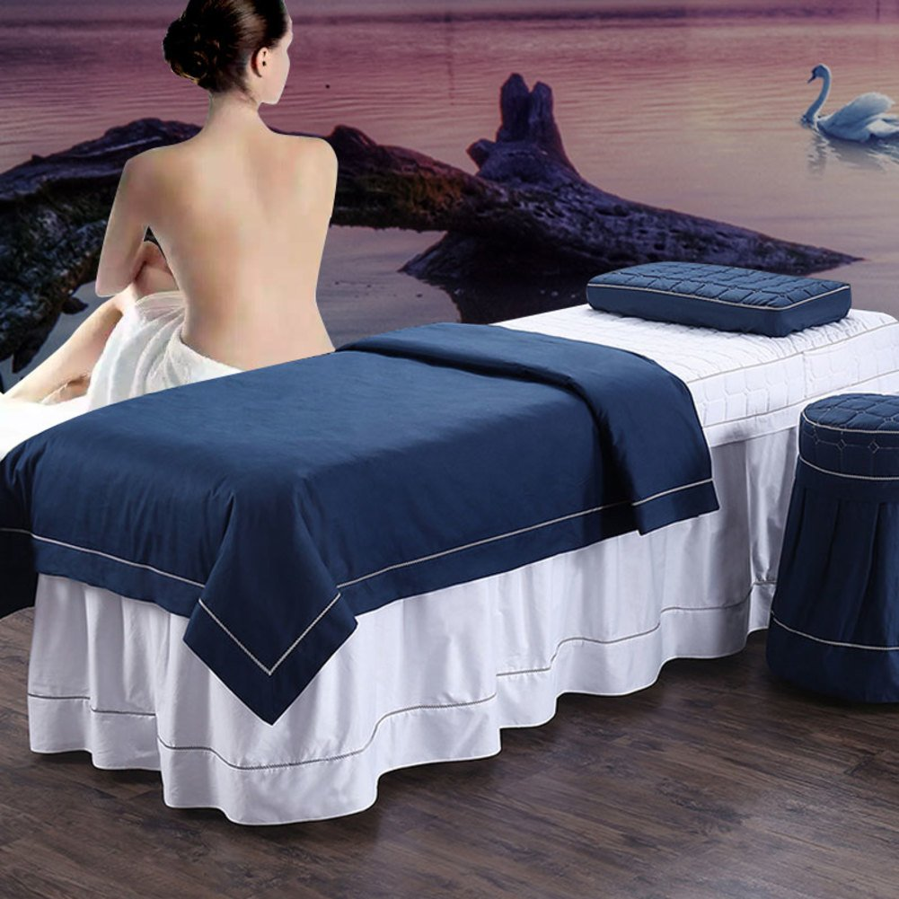 Beaten simple cotton beauty bedspread Cotton massage bedlinen Beauty salon spa bed sheets-A 70x190cm(28x75inch) Perfect Home