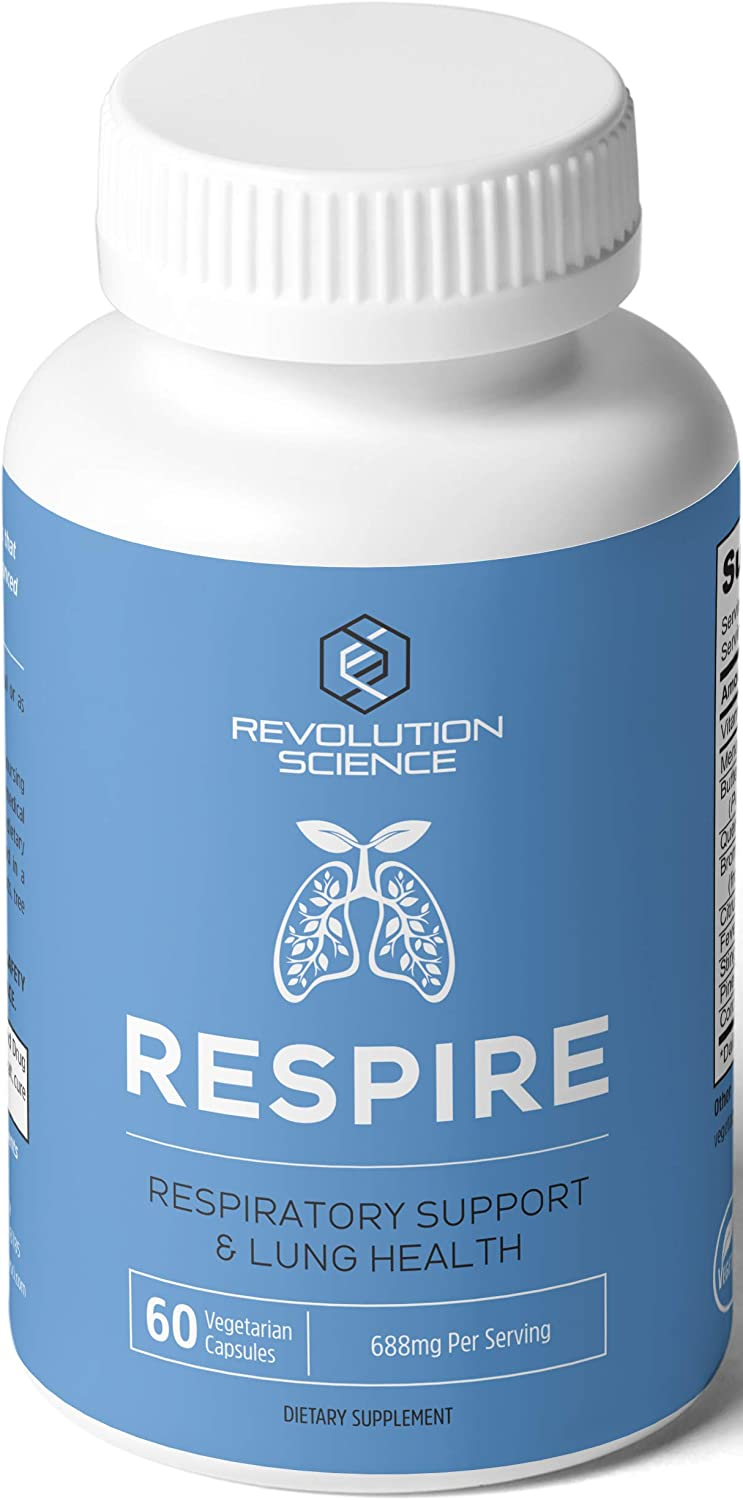 Lung Cleanse and Detox & Lung Support Supplement - Respire - Natural Allergy Relief & Respiratory Decongestants for Adults - Asthma & Sinus Relief - Clear Lungs to Breathe Right, 60 Capsules: Health & Personal Care