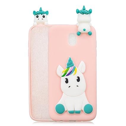 1967fe7bd83 HopMore Funda para Samsung Galaxy J5 2017 Silicona Dibujos Panda Unicornio Divertidas  TPU Gel Kawaii Ultrafina