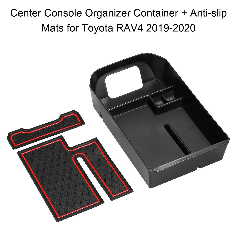 Lasamot Consola Central del autom/óvil Organizador Contenedores Caja de Soporte Caja del reposabrazos del Coche Compartimento de Almacenamiento Accesorios de reemplazo para Toyota RAV4 2019-2020