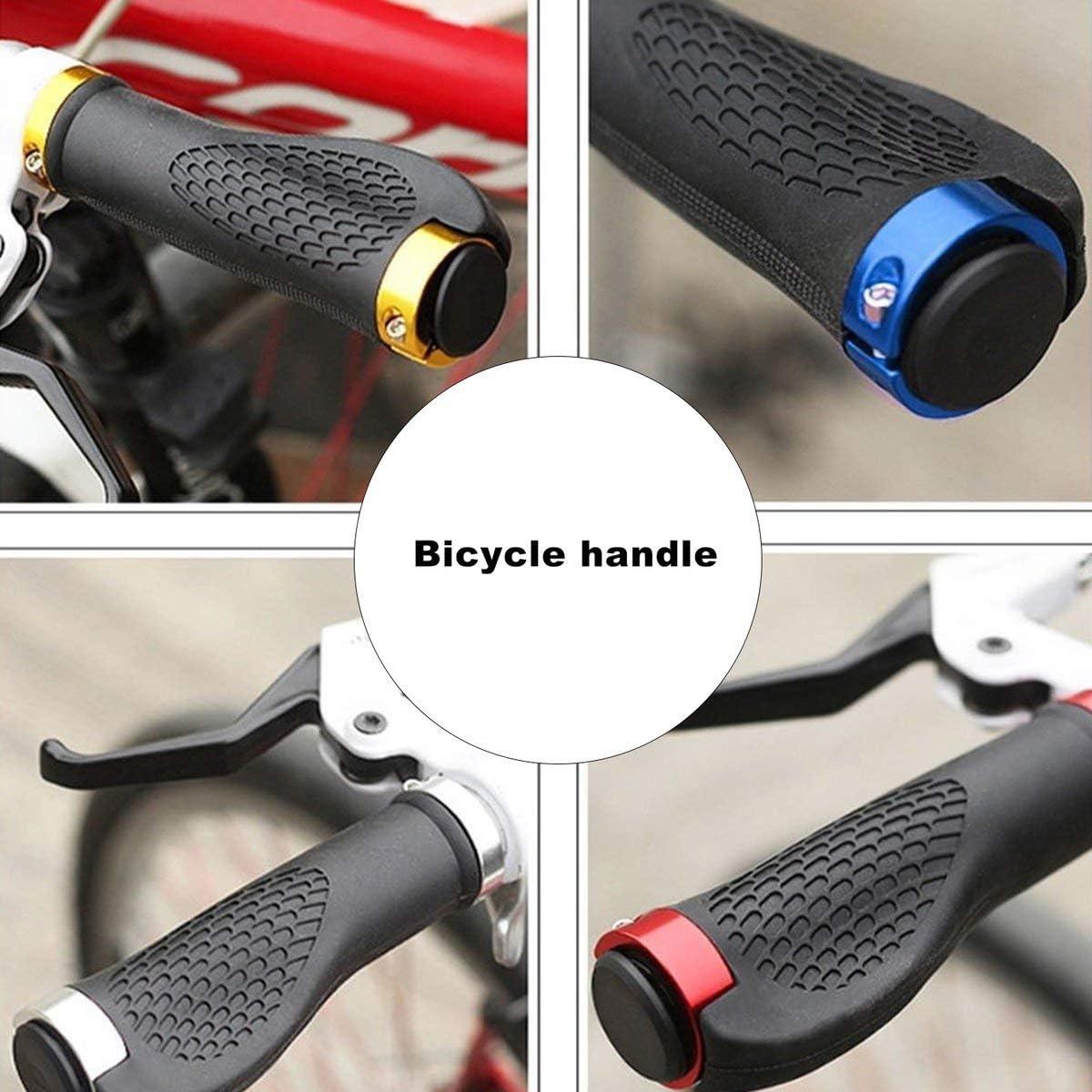 Greatangle Poign/ées de Guidon de v/élo ergonomiques antid/érapantes durables en Caoutchouc de v/élo de Montagne poign/ée de Barre de Cyclisme extr/émit/és verrouillables Guidon Bleu Royal