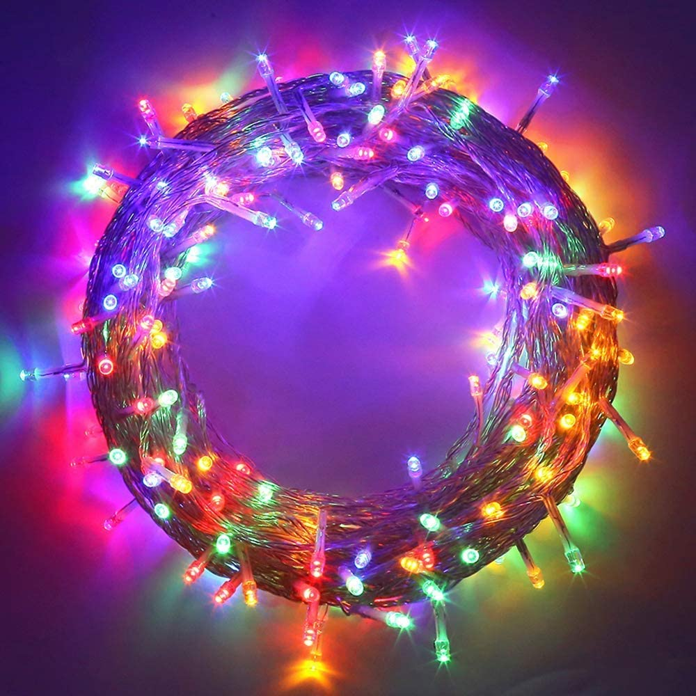 MYGOTO 98FT 200 LEDs String Lights Waterproof Fairy Lights 8 Modes with Memory 30V UL Certified Power Supply for Home, Garden, Wedding, Party, Christmas Decoration Indoor Outdoor (Multicolor)