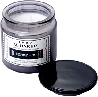 product image for Colonial Candle M. Baker Signature Edition, Fragrance No. 15 Rosemary + Ivy, Medium Deco Glass Jar, 14 OZ