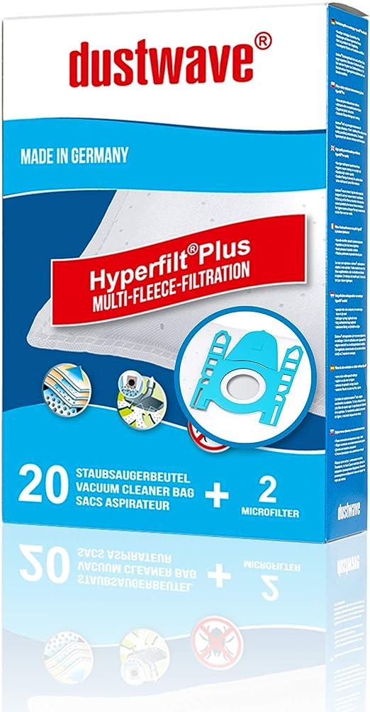 dustwave Megapack - 20 bolsas para aspiradoras Siemens Super 511 (fabricadas en Alemania, incluye microfiltro): Amazon.es: Hogar