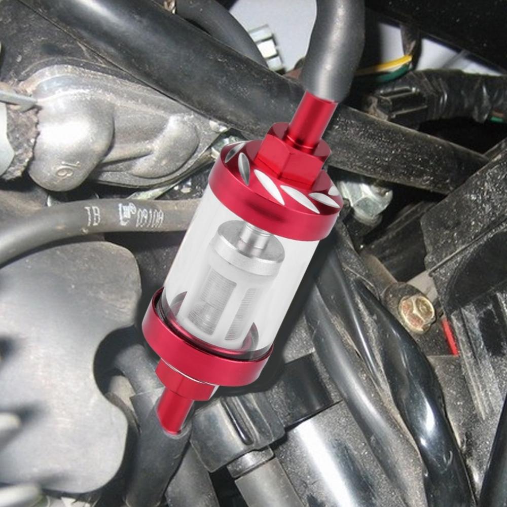 Sostituzione del filo del filtro del gasolio in-line per olio in vetro metallo 8mm per moto Blue