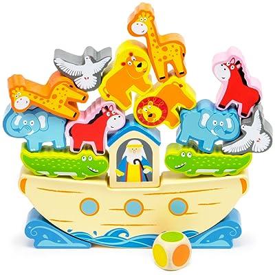 Noah's Balancing Ark Stacking Game, 17-Piece Block Balancing Play Set by Imagination Generation: Toys & Games