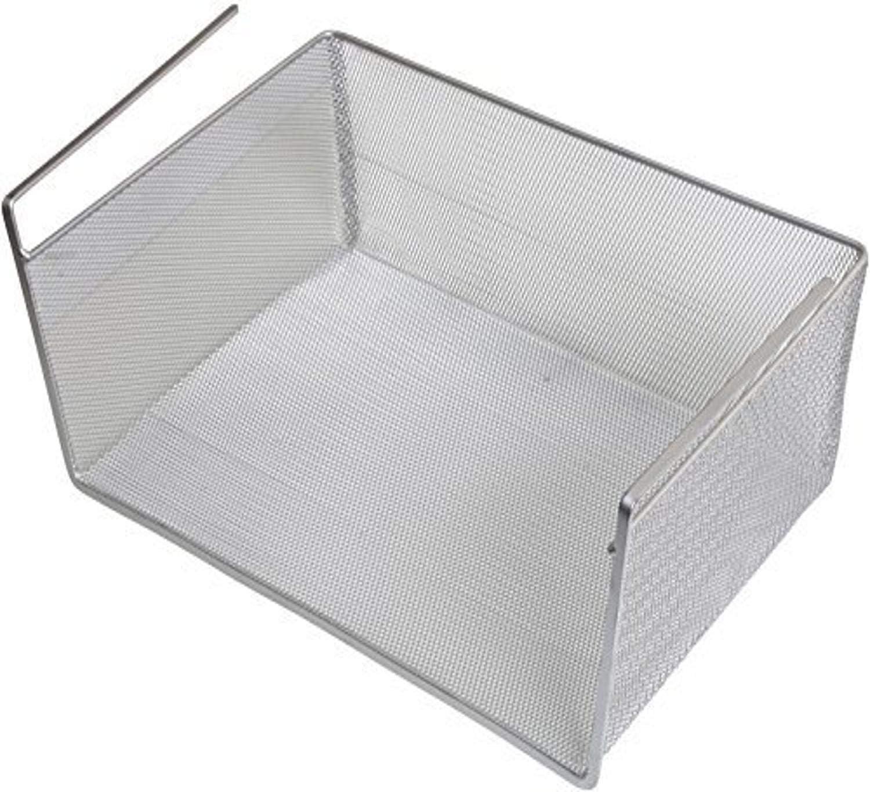 YBM Home Storage Bin, Under Shelf Basket, Silver