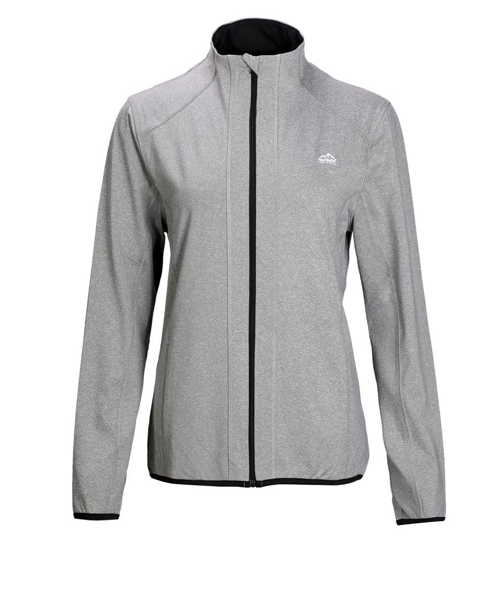 Dolcevida Women's Full Zip Long Sleeves Running Activewear Yoga Track Jackets (Grey, XL)