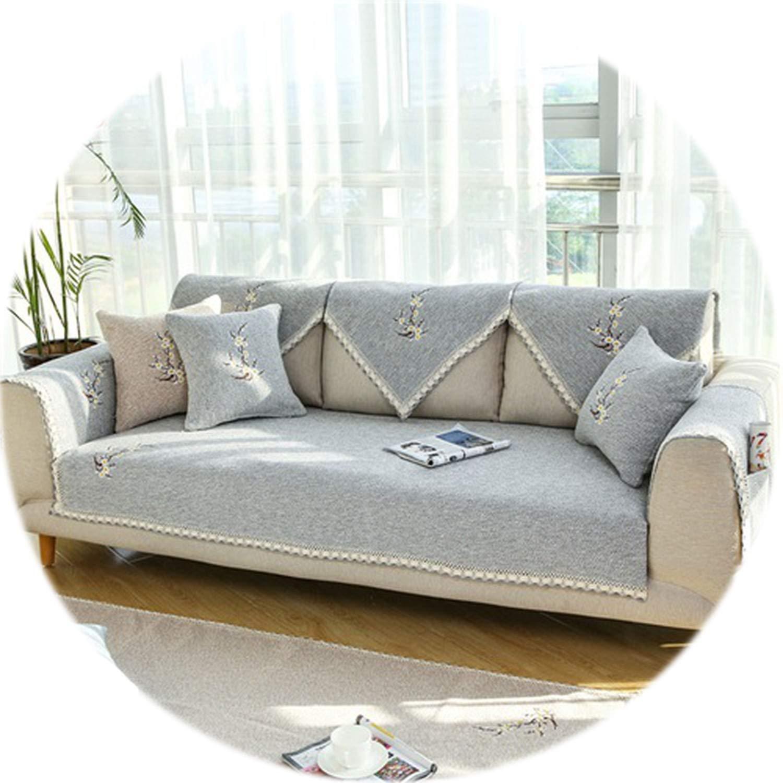 Amazon.com: HANBINGPO Elegant Floral Embroidery Grey Beige ...