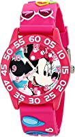 Disney Minnie Mouse Girls' 3D Plastic Pink Watch