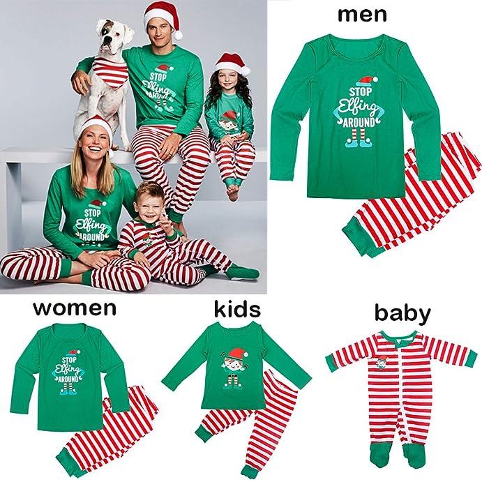 amazon com junda christmas pajamas set christmas holiday family sleepwear pajamas men women kids baby clothing