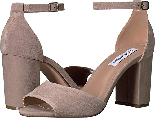 e3686db40e8 Steve Madden Women s Mirna Taupe Suede Sandal  Buy Online at Low Prices in  India - Amazon.in