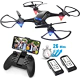 Drones with Camera for Adults Long Flight Time, EACHINE E38 Wifi FPV Quadcopter Drone with 720P 120°FOV HD Camera Live…