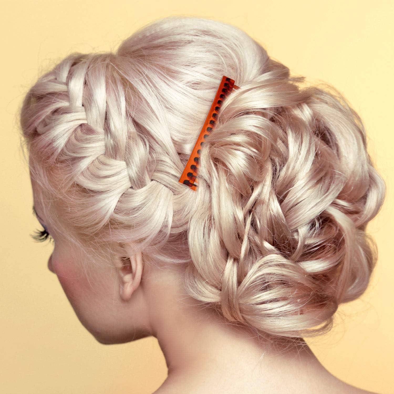 6 pieces Cheveux Peignes Slides Black Plain hair combs clair plaine Cheveux Peigne Côté