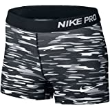 Nike Women's Pro Cool 3-Inch Training Shorts (Black/white/grey/Small)