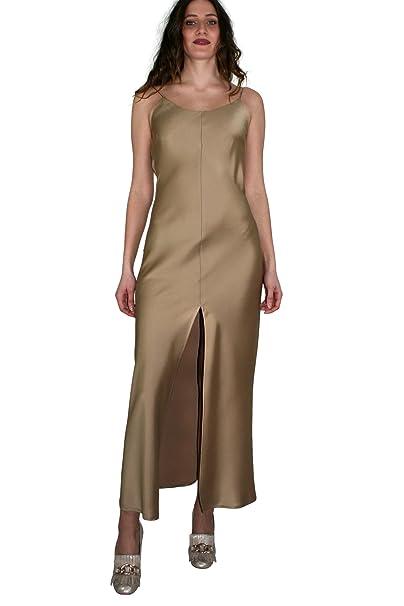 Kocca Abito lungo PLACE variante colore Oro Collezione Primavera Estate 2018   Amazon.it  Abbigliamento ba6ed18243b