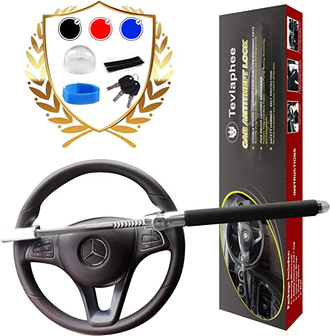 Brake Pedal Car Security Durable Yctze Steering Wheel Lock Steering Wheel Security Lock Anti-Theft. Clutch Pedal