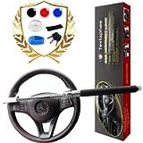 Tevlaphee Steering Wheel Lock for Cars,Wheel Lock,Vehicle Anti-Theft Lock,Adjustable Length Clamp Double Hook Universal…