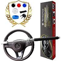 WonVon Car Steering Wheel Lock,Universal SUV Auto Car Anti-Theft Security Rotary Steering Wheel Lock Safety Lock Devices Keyed Lock with 2 Keys
