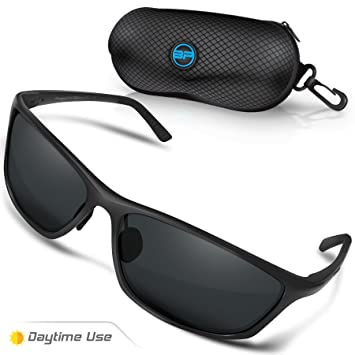 69a3e37d3a9 Amazon.com  BLUPOND Polarized Driving Sunglasses for Men Women - TAC HD  Vision Anti Glare Lens - Unbreakable Metal Frame - Rally  Sports   Outdoors