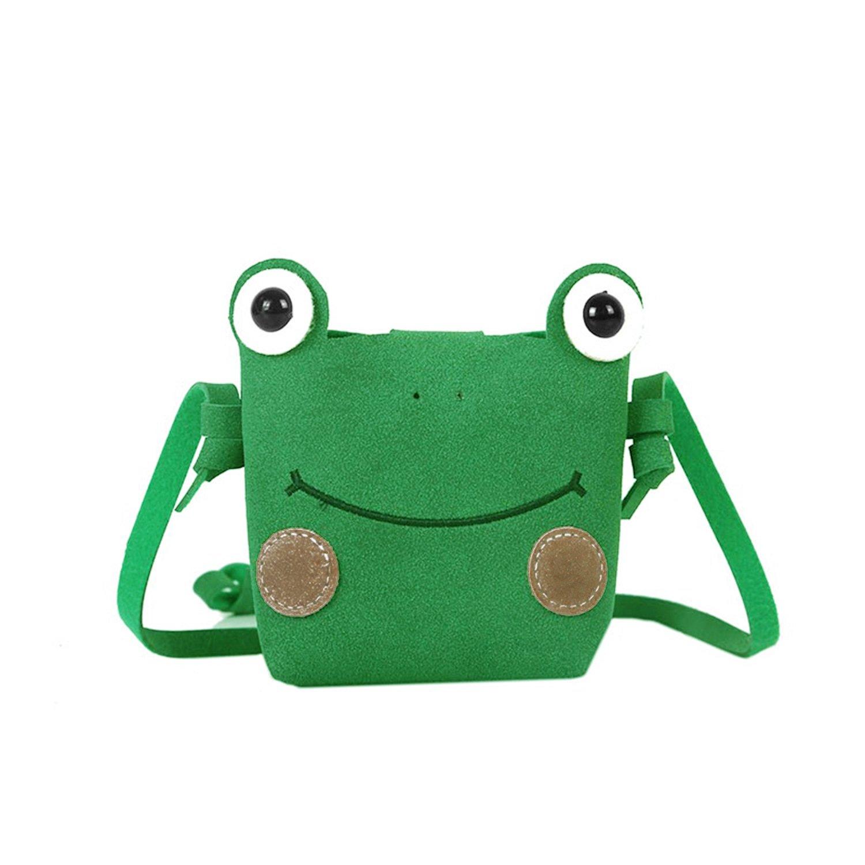 Girls Cute Frog Mini Crossbody Wallet PU Leather Animal Satchel Shoulder Purse Bag